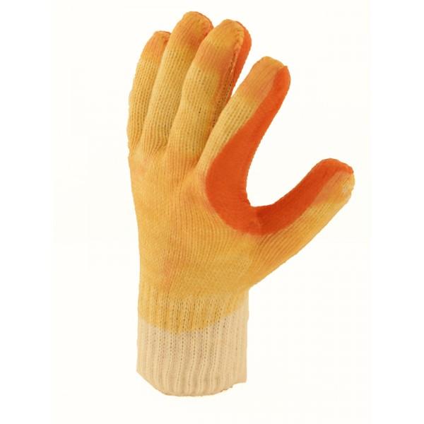 Masturbation avec des techniques de gants en latex