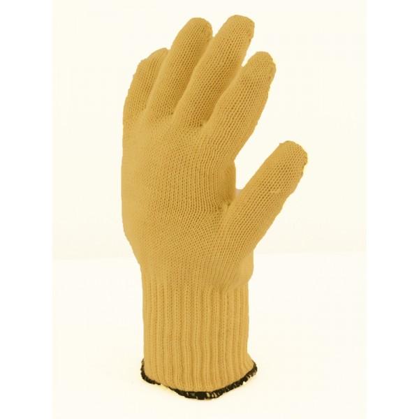 Gant tricot kevlar anti chaleur jaune s curit - Gants cuisine anti chaleur ...